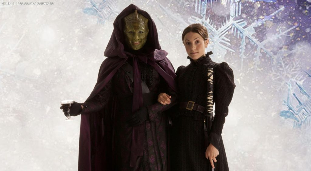 Madam Vastra and her wife, Jenny