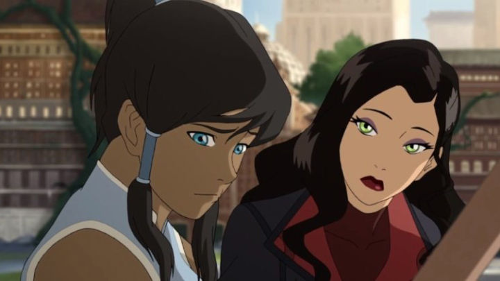 Korra's a little shy when Asami is concerned