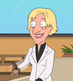 A picture of the character Ellen DeGeneres