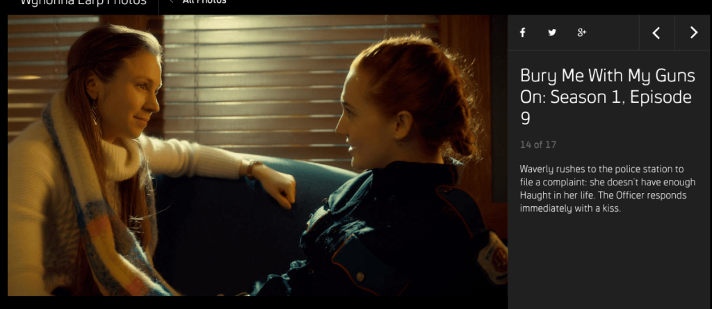 Waverly rushes to the police station to file a complaint: she doesn't have enough Haught in her life. The Officer responds immediately with a kiss.