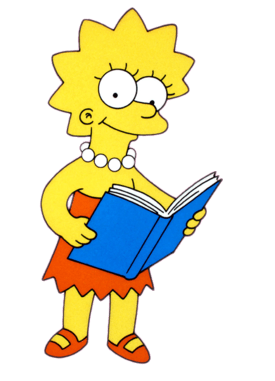 A picture of the character Lisa Simpson
