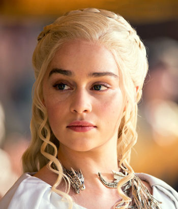 A picture of the character Daenerys Targaryen - Years: 2011, 2012, 2013, 2014, 2015, 2016, 2017, 2019