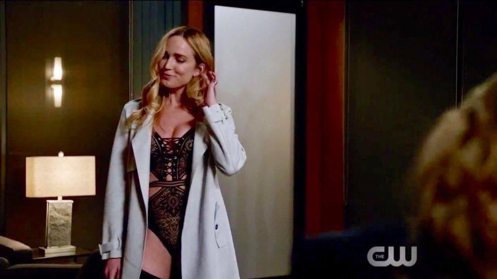 Sara Lance in lingerie