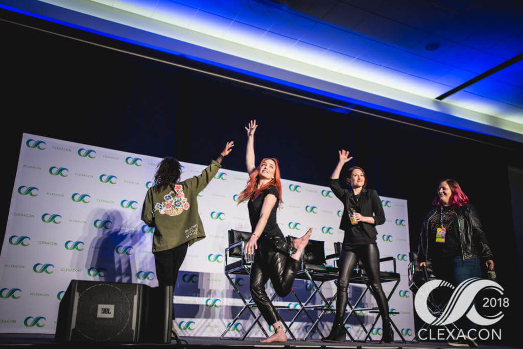 Maisie Richardson-Sellers, Caity Lotz, and Chyler Leigh at ClexaCon 2018