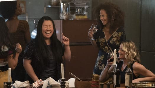 "GOOD TROUBLE - ""Parental Guidance Suggested"" - Callie and Mariana's moms visit their new digs, but even with all the Coterie residents on their best behavior things get out of hand. Meanwhile, Dennis reveals a shocking truth about his past. This episode of ""Good Trouble"" airs Tuesday, Feb. 5 (8:00 - 9:01 P.M. EST) on Freeform. (Freeform/Eric McCandless) SHERRY COLA, SHERRI SAUM, TERI POLO"