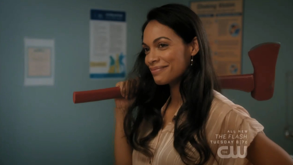 Jane the Virgin Petramos is back - JR wielding an axe