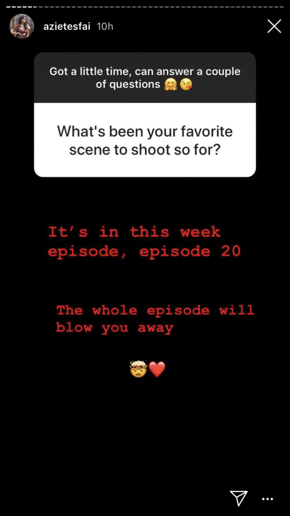 Azie's favorite episode is episode 20