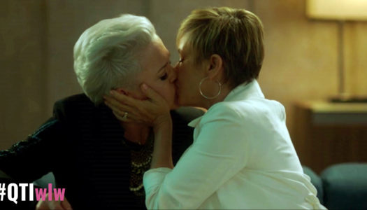 Queerest Things - Gabrielle and Christine kiss on BH90210