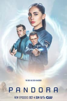 Pandora -- Image Number:PAN_S2_8x12_300dpi.jpg -- Pictured (L-R): Oliver Dench as Xander,  Ben Radcliffe as Ralen and Priscilla Quintana as Jax -- Photo: The CW -- © 2020 The CW Network, LLC. All Rights Reserved.